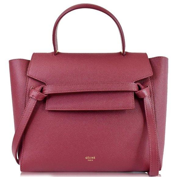 Celine Handbags - CELINE Micro Belt Grained Calfskin 2Way